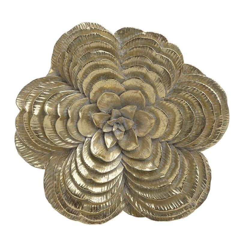 Decoratiune perete Golden Flower, 28x27x5