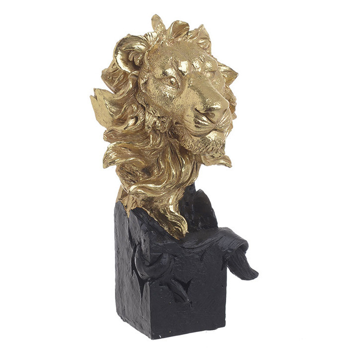 Decoratiune Lion Head, 12x11x23,5